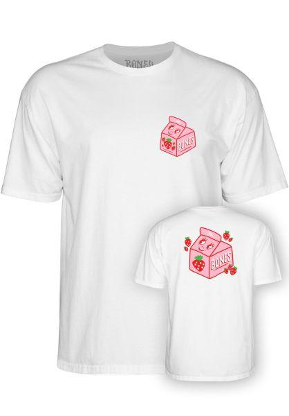 Bones Wheels T-Shirts Lizzie Split Milk white vorderansicht 0322173