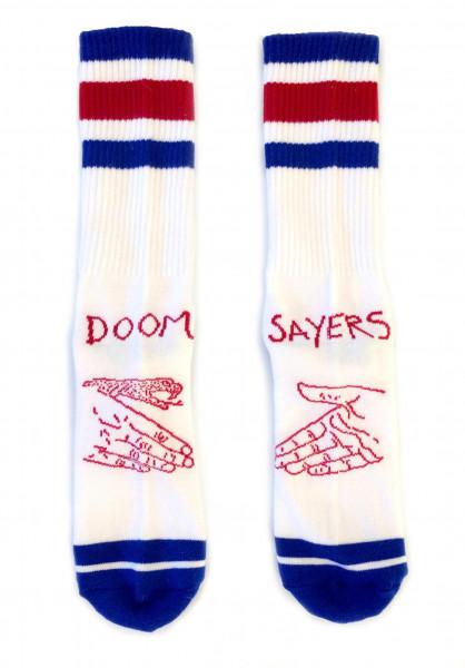 Doomsayers Socken Snake Shake red-white-blue Vorderansicht