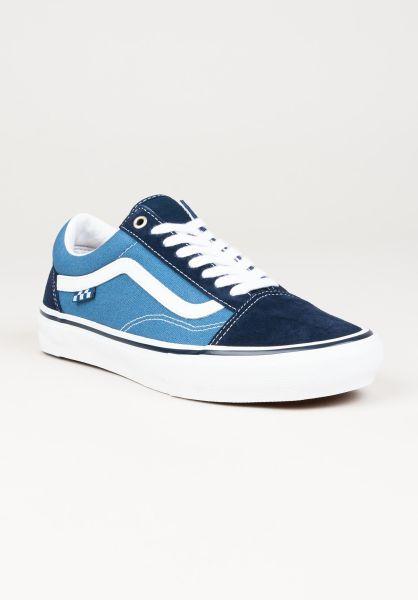 Vans Alle Schuhe Skate Old Skool navy-white vorderansicht 0604963
