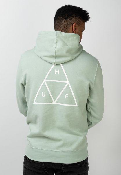 HUF Hoodies Triple Triangle harborgrey vorderansicht 0443406