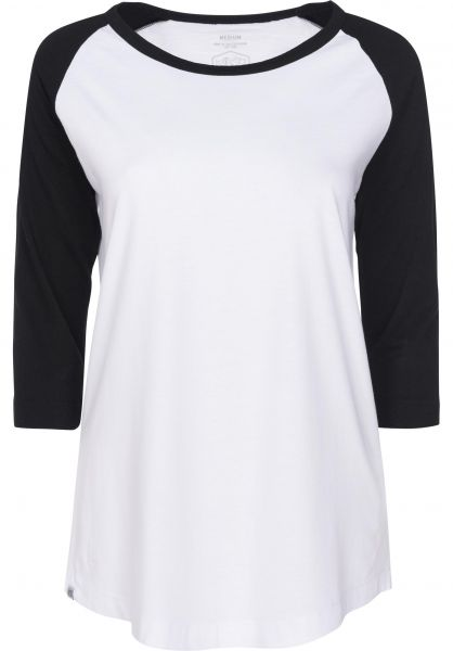 TITUS Longsleeves Essential Raglan 3/4 Sleeve Girls white-black Rueckenansicht