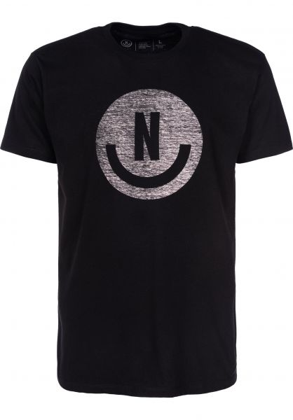 Neff T-Shirts Smiley black-grey Vorderansicht