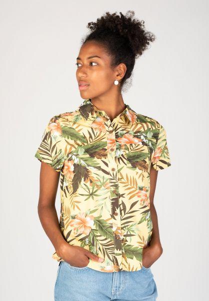 TITUS Hemden kurzarm Tropical AO Girls yellow-pattern vorderansicht 0400852