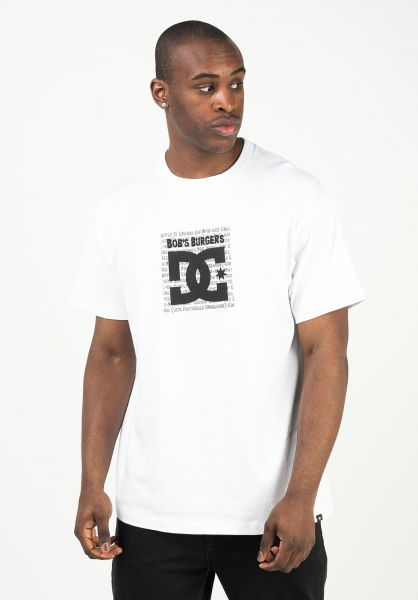 DC Shoes T-Shirts x Bobs Burgers Box white vorderansicht 0323288