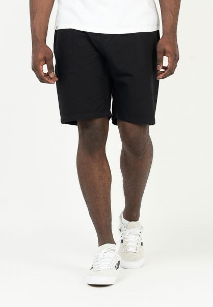 Cleptomanicx Chinoshorts Transit Team Shorts black vorderansicht 0281058