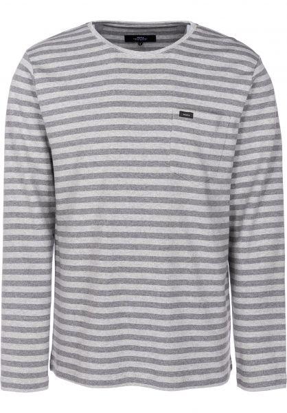 Makia Longsleeves Verkstad Pocket grey-grey vorderansicht 0383070