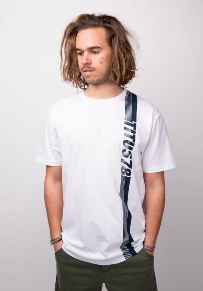 TITUS T-Shirts Block Stripe white vorderansicht 0398398