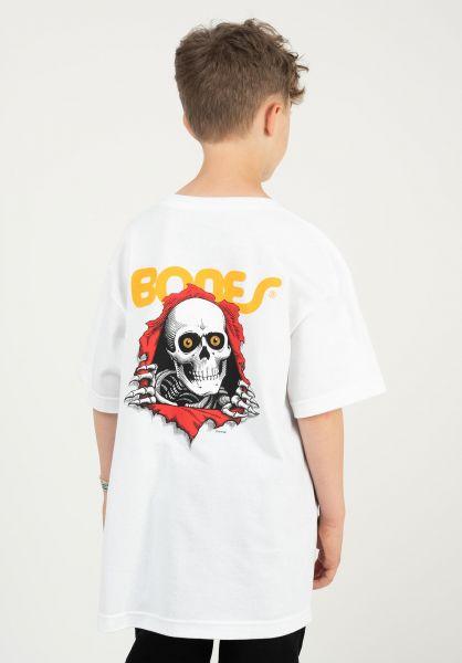 Powell-Peralta T-Shirts Ripper Kids white vorderansicht 0375562