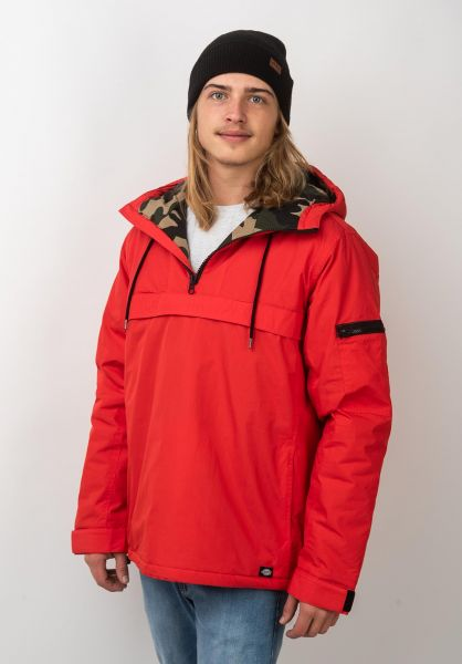 Dickies Winterjacken Belspring fieryred vorderansicht 0123174