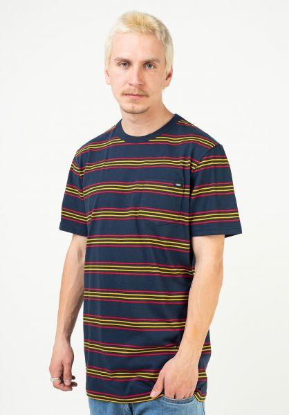 Vans T-Shirts Chaparral Stripe dressblues vorderansicht 0323455