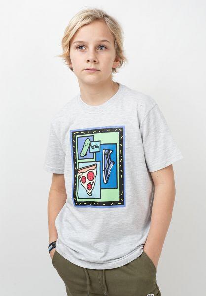 TITUS T-Shirts 90´s Kids lightheathergrey vorderansicht 0320205