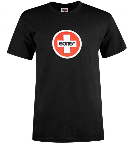 Bones Bearings T-Shirts Swiss-Circle black Vorderansicht