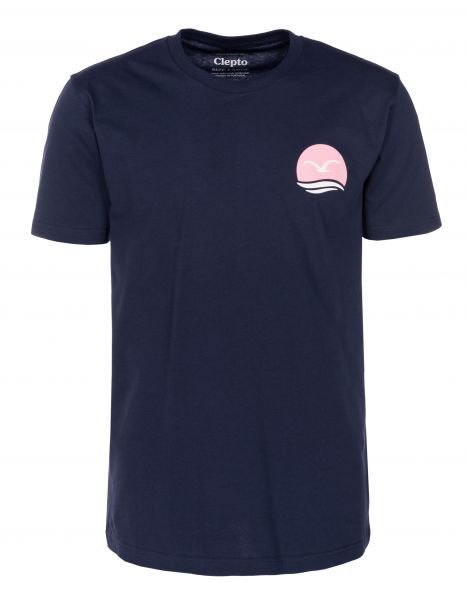 Cleptomanicx T-Shirts Mocean darknavy vorderansicht 0399748