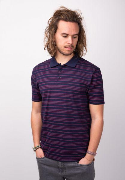 TITUS Polo-Shirts Milo red-striped vorderansicht 0398344