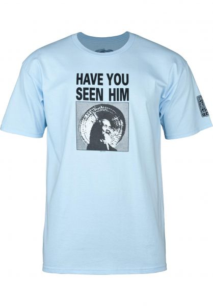Powell-Peralta T-Shirts Animal Chin powder-blue vorderansicht 0036261
