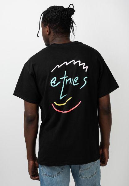 etnies T-Shirts Smile black vorderansicht 0321222