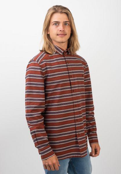 Rules Hemden langarm Carlo rust-striped vorderansicht 0411854