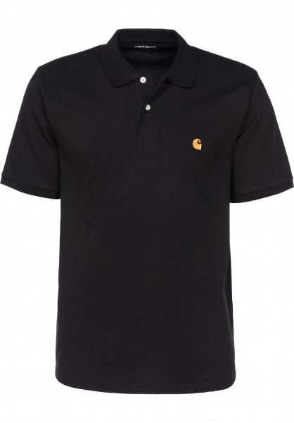 Carhartt WIP Polo-Shirts Chase Polo black-gold Vorderansicht