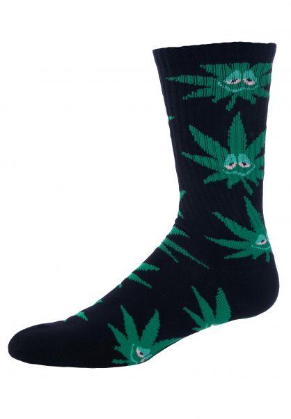 HUF Socken Green Buddy black vorderansicht 0631389