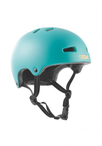 TSG Helme Nipper Mini Solid Color Kids satin cauma green vorderansicht 0750039