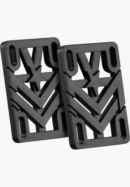 "Mini-Logo Riserpads 1/4"" Riser Universal black Vorderansicht 0197066"
