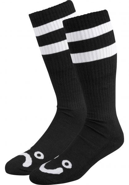 Polar Skate Co Socken Happy Sad Classic Long black vorderansicht 0630412