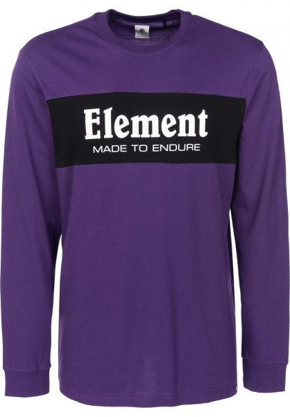 Element Longsleeves Primary darkpurple Vorderansicht