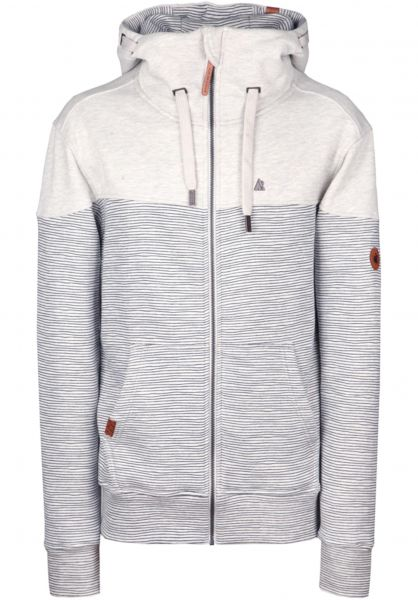 alife and kickin Zip-Hoodies Hurricane cloudystripes Vorderansicht 0454772