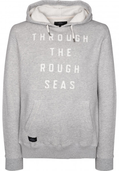 Makia Hoodies Rough Seas greymelange Vorderansicht