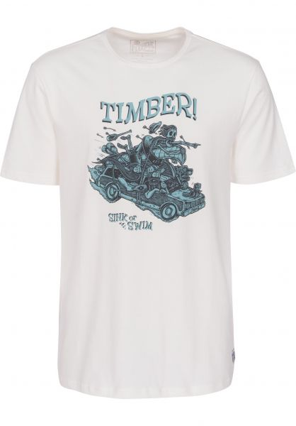 Element T-Shirts Woody bonewhite Vorderansicht