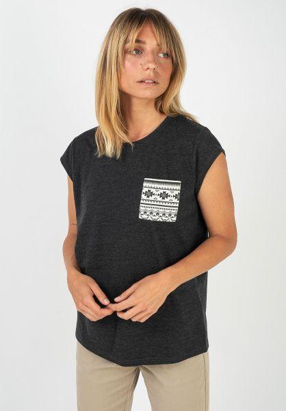 TITUS T-Shirts Kimi darkgreymottled-ethno vorderansicht 0396515
