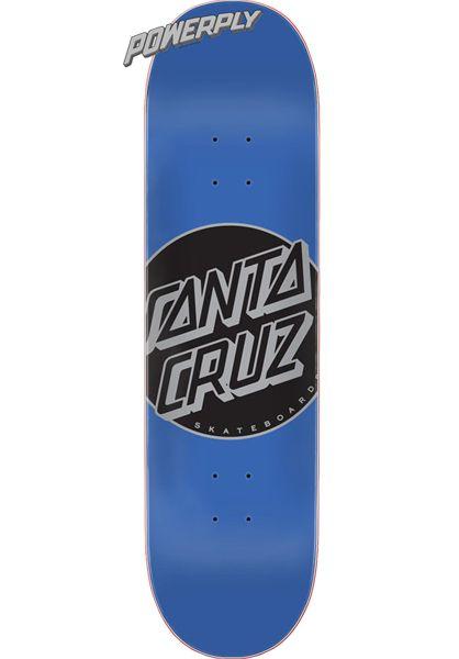 Santa-Cruz Skateboard Decks Other Dot Powerply blue vorderansicht 0261874