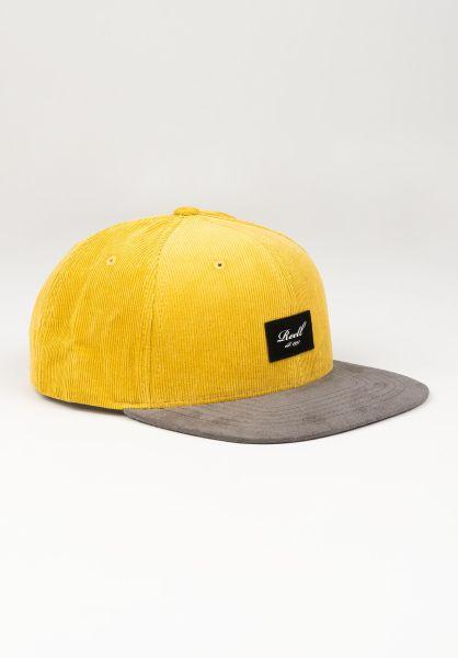 Reell Caps Suede 6-Panel yellowbrown-ribcord vorderansicht 0564484