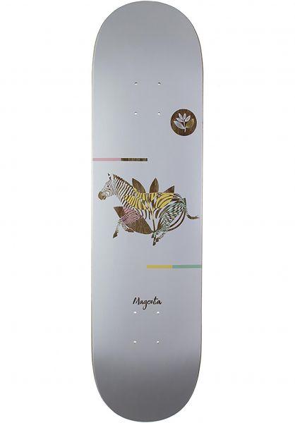 Magenta Skateboard Decks Zebra white Vorderansicht