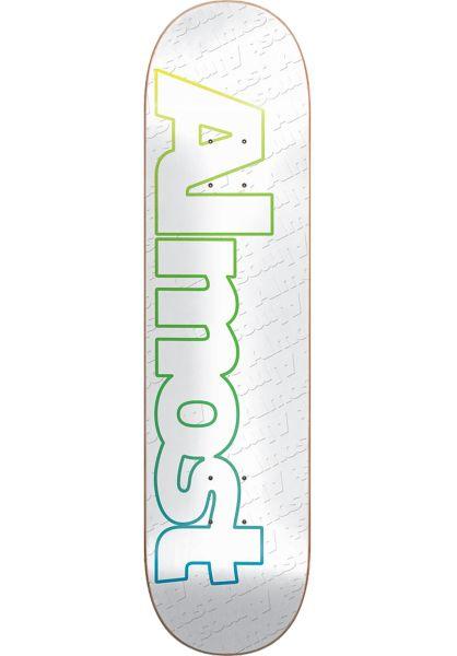 Almost Skateboard Decks Faded Outline white vorderansicht 0260182