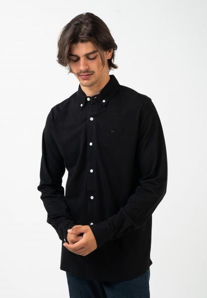 Wemoto Hemden langarm Tumba black vorderansicht 0412073