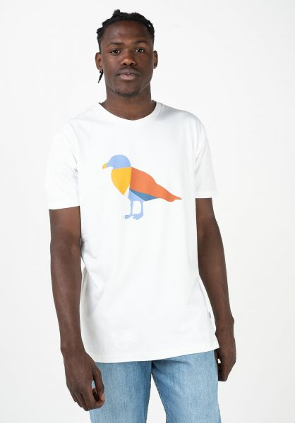 Cleptomanicx T-Shirts Gullorama white-chilli vorderansicht 0320583