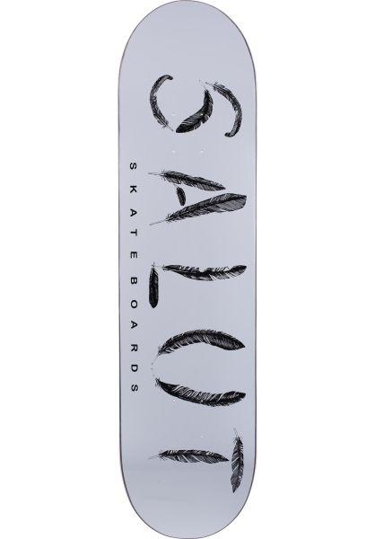 Salut Skateboards Skateboard Decks Feather Logo white vorderansicht 0115976