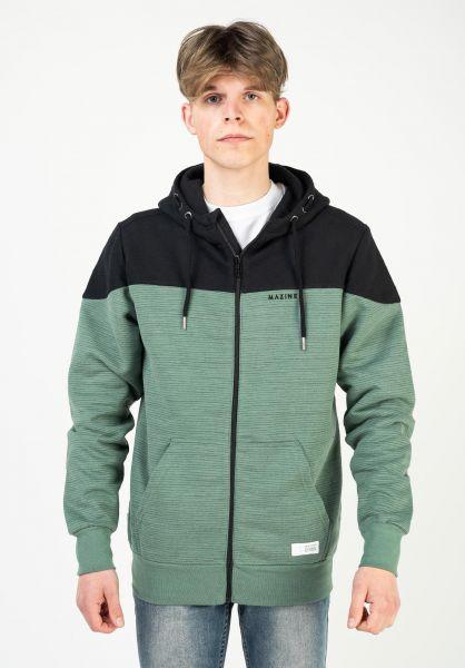 Mazine Zip-Hoodies Neston Heavy Zipper black-forest vorderansicht 0454865