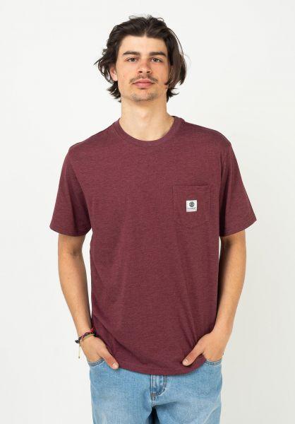 Element T-Shirts Basic Pocket Label vintageredheather vorderansicht 0398847
