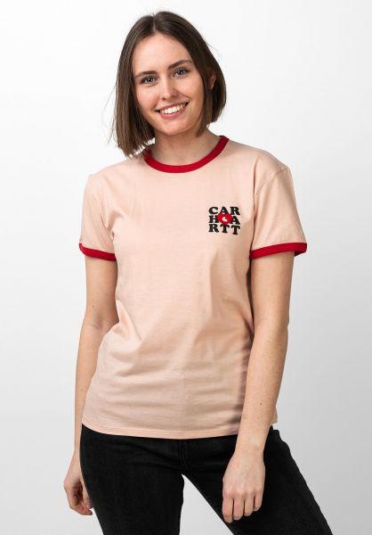 Carhartt WIP T-Shirts W´ Ringer Heart powdery vorderansicht 0321030