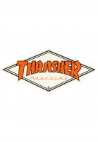 Thrasher-Verschiedenes-Diamond-Logo-Sticker-white-orange-Vorderansicht