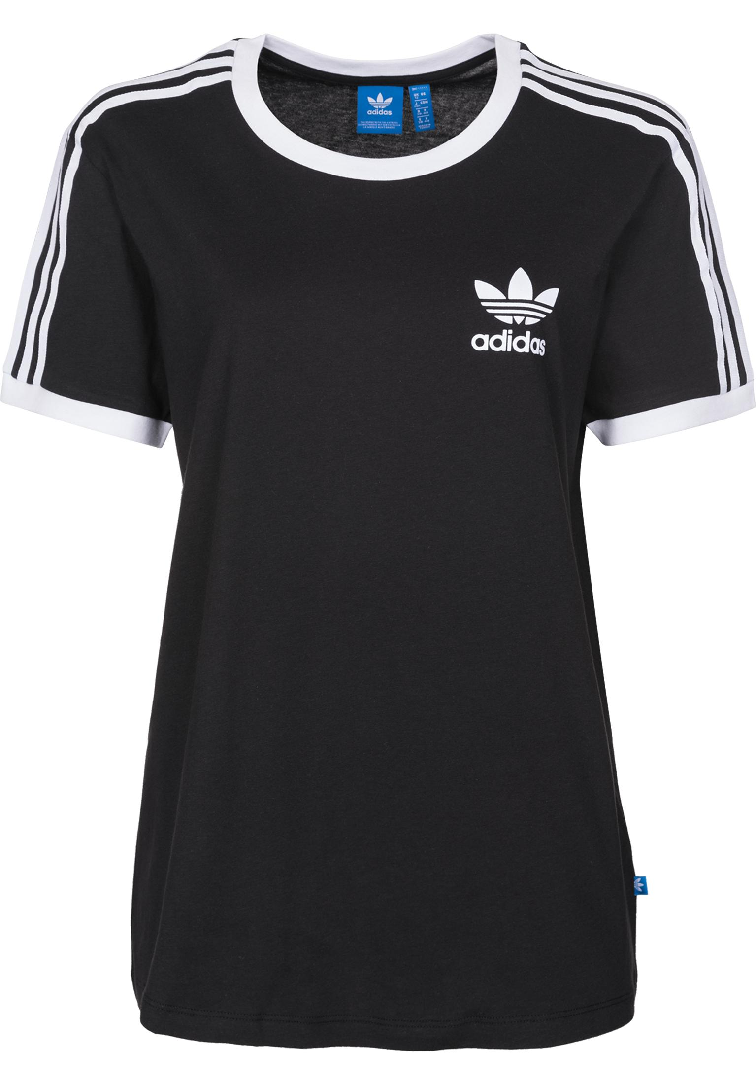 3 stripes adidas t shirts in black f r damen titus. Black Bedroom Furniture Sets. Home Design Ideas