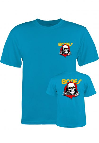 Powell-Peralta T-Shirts Ripper Kids turquoise Vorderansicht