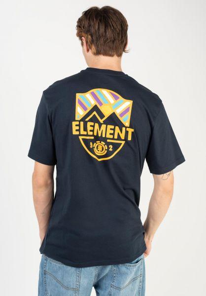 Element T-Shirts Beaming eclipsenavy vorderansicht 0322630