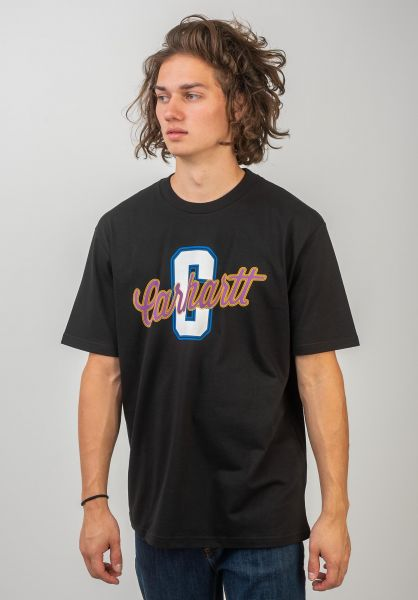 Carhartt WIP T-Shirts Titan black vorderansicht 0320599