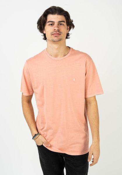 Volcom T-Shirts Solid Stone Emb clayorange vorderansicht 0320386
