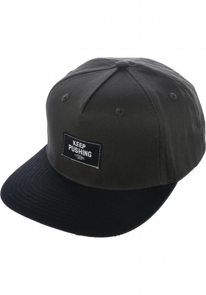 TITUS Caps Keep Pushing Snapback darkgrey-black vorderansicht 0565777