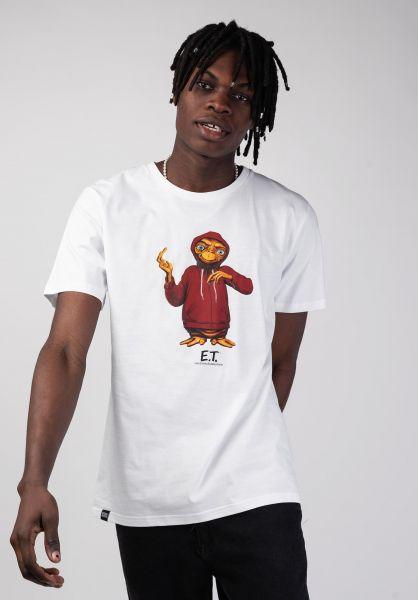 Dedicated T-Shirts Stockholm Extra Terrestrial white vorderansicht 0320248