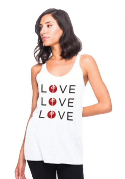 Red-Dragon Tops Love white vorderansicht 0352478